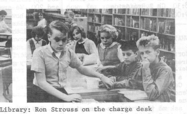 Pierce Junior High Library, 1964