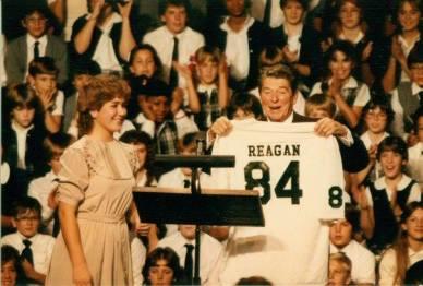 President Reagan at St. Agatha, 1984