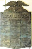 Redford Union High School WWII plaque