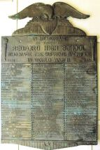 Redford HS WWII Plaque