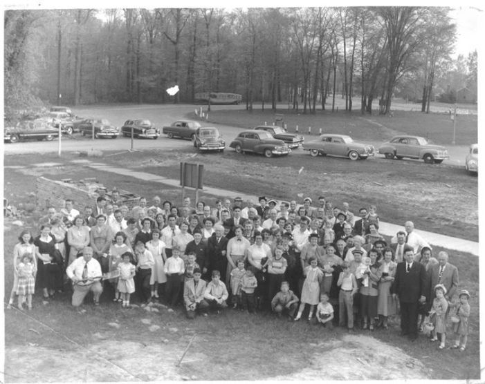 St. Robert Bellarmine School, groundbreaking 1954