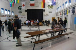 Bulman Gymnasium/Cafeteria during final open house, 2011